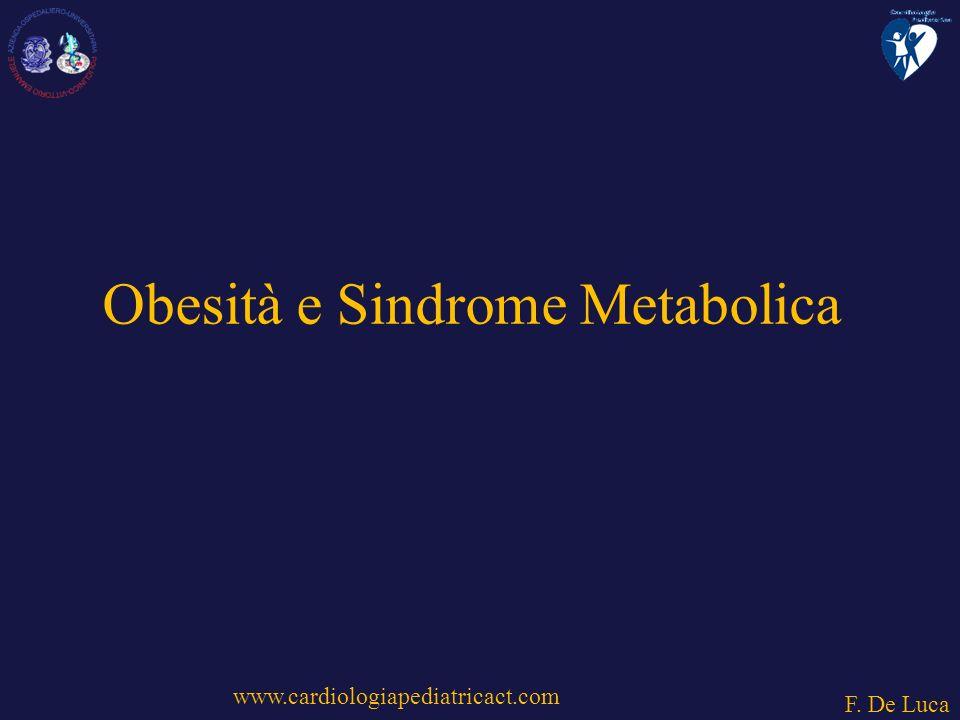 www.cardiologiapediatricact.com F. De Luca Obesità e Sindrome Metabolica