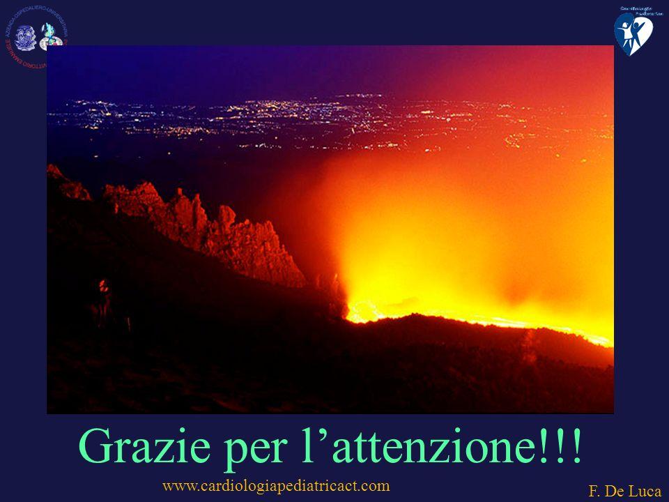 www.cardiologiapediatricact.com F. De Luca Grazie per lattenzione!!!