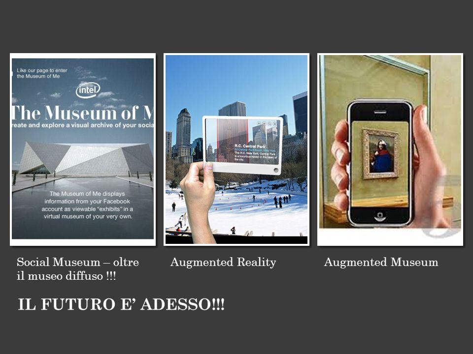 Social Museum – oltre il museo diffuso !!! Augmented RealityAugmented Museum IL FUTURO E ADESSO!!!