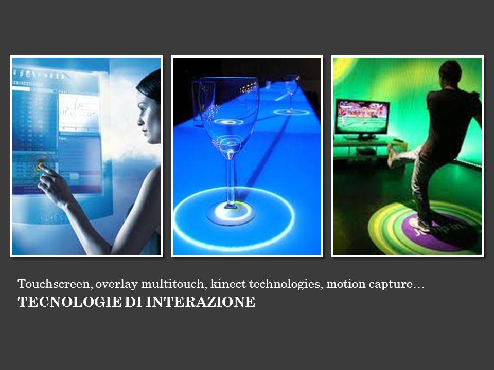 Touchscreen, overlay multitouch, kinect technologies, motion capture… TECNOLOGIE DI INTERAZIONE