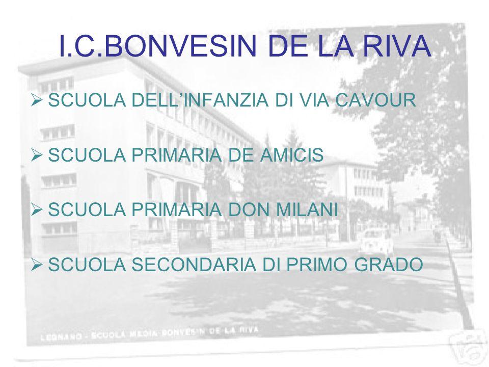 I.C.BONVESIN DE LA RIVA SCUOLA DELLINFANZIA DI VIA CAVOUR SCUOLA PRIMARIA DE AMICIS SCUOLA PRIMARIA DON MILANI SCUOLA SECONDARIA DI PRIMO GRADO