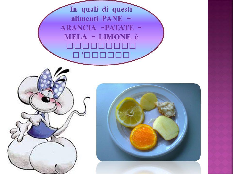 In quali di questi alimenti PANE – ARANCIA - PATATE – MELA - LIMONE è contenuto l amido?