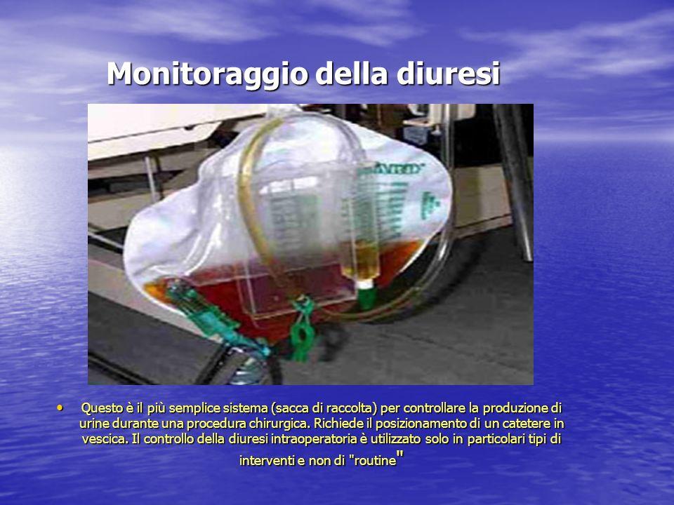 Monitoraggio della diuresi Questo è il più semplice sistema (sacca di raccolta) per controllare la produzione di urine durante una procedura chirurgic
