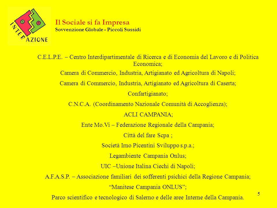 5 C.E.L.P.E. – Centro Interdipartimentale di Ricerca e di Economia del Lavoro e di Politica Economica; Camera di Commercio, Industria, Artigianato ed