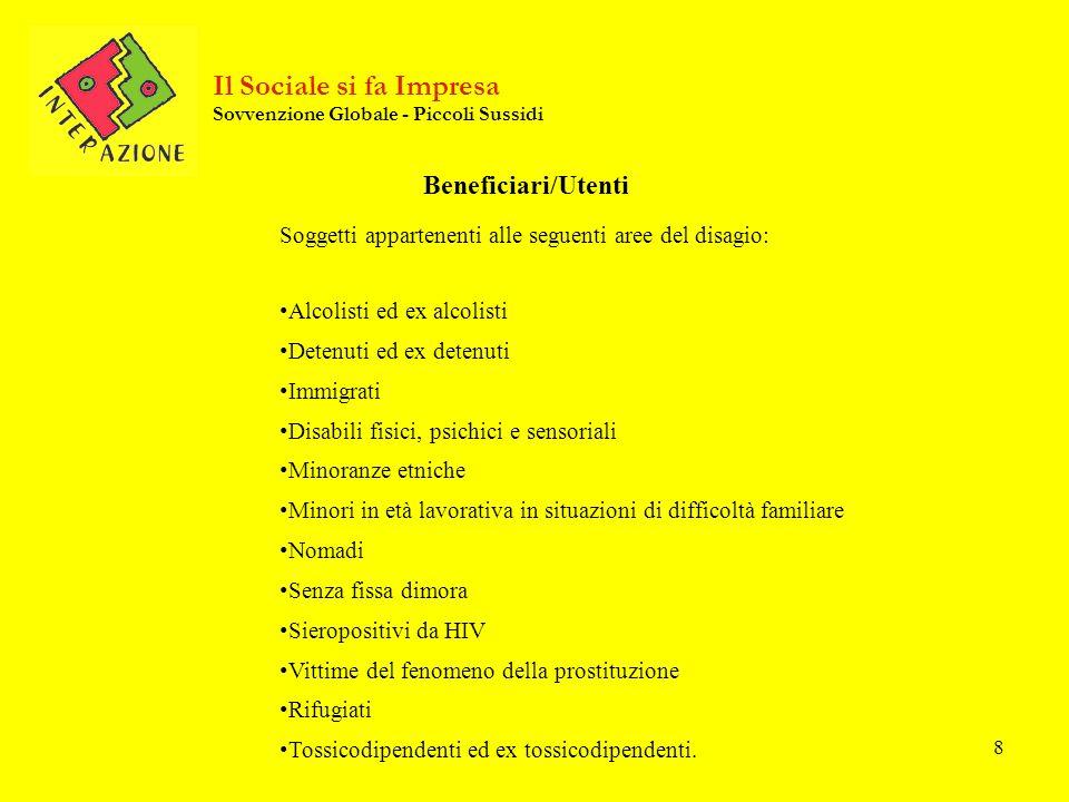 Per informazioni : ATI Inter/Azione Via G.Porzio, CDN is G8 – Napoli Tel/Fax 081.7879846 Lunedì – mercoledì – venerdì dalle ore 10.00 alle ore 13.00 Giovedì – venerdì dalle ore 14.30 – alle ore 17.30 www.ilsocialesifaimpresa.it E-mail: info@ilsocialesifaimpresa.it Il Sociale si fa Impresa Sovvenzione Globale - Piccoli Sussidi