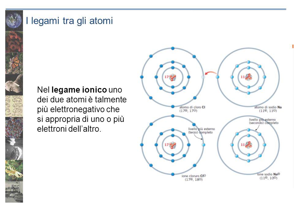 I legami tra gli atomi I composti ionici contengono ioni di carica opposta che si attraggono e che grazie a legame ionici formano cristalli dotati di particolari simmetrie.