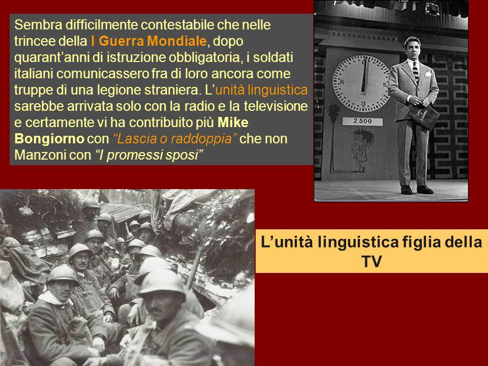 Sembra difficilmente contestabile che nelle trincee della I Guerra Mondiale, dopo quarantanni di istruzione obbligatoria, i soldati italiani comunicas
