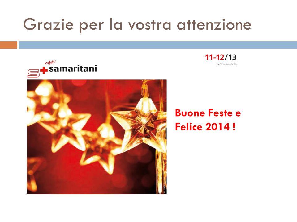 Grazie per la vostra attenzione Buone Feste e Felice 2014 !