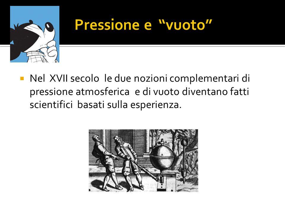 Il grado di vuoto, si misura in base alla pressione (p=F/S) dell aeriforme residuo presente.