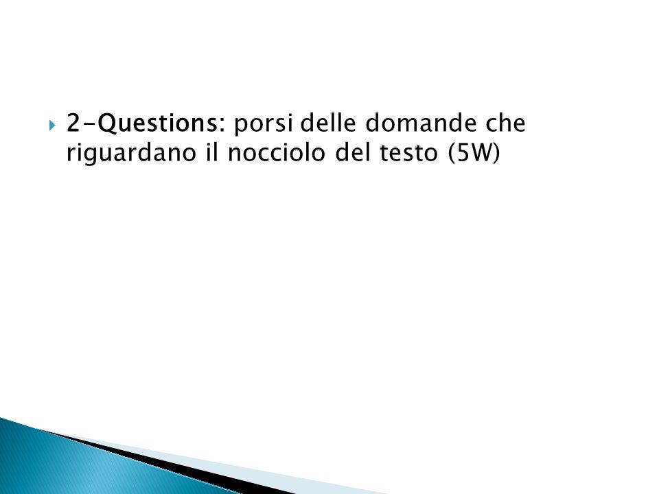 3-Read: leggere cercando di darsi delle risposte alle domande precedentemente formulate