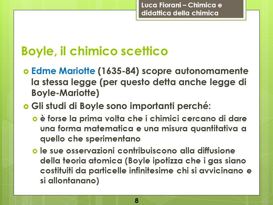 Luca Fiorani – Chimica e didattica della chimica Boyle, il chimico scettico Edme Mariotte (1635-84) scopre autonomamente la stessa legge (per questo d