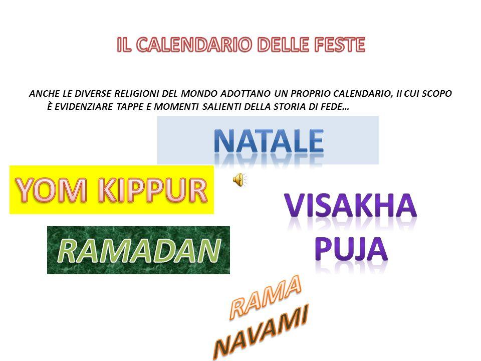 ANCHE LE ALTRE RELIGIONI PRESENTI NEL MONDO HANNO UN LORO CALENDARIO DELLE FESTE… NEL CORSO DELLANNO RELIGIOSO GLI EBREI CELEBRANO DIECI FESTE.