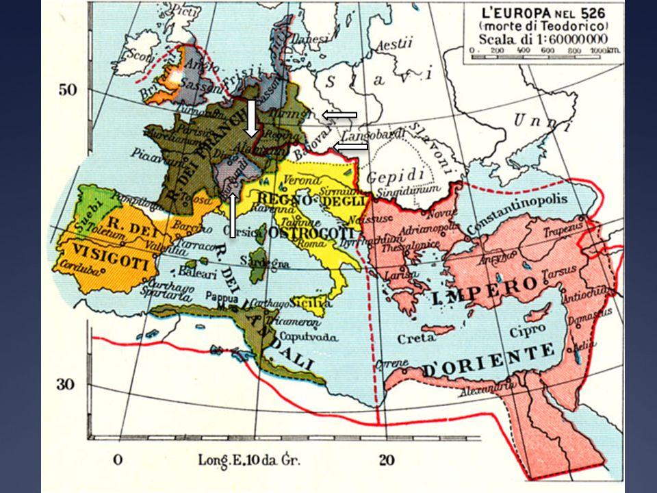 Nel regno franco era stato evitato ciò che invece si era verificato e si verificava in tutti gli altri regni germanici: la divisione e il contrasto tra i conquistatori (popolazione germanica) e i conquistati (popolazione romana).