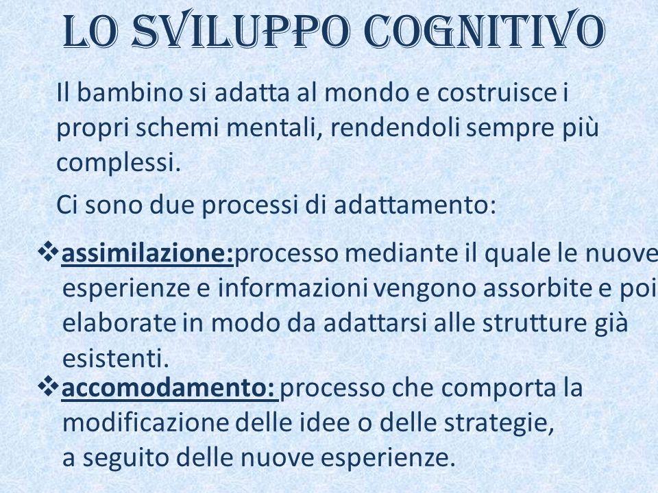 Piaget distingue 4 diverse fasi dello sviluppo cognitivo del bambino: Fase senso-motoria(nascita-2 anni) Fase pre-operatoria(2-6 anni) Fase operatorio - concreta(6-12 anni) Fase operatorio - formale(12 anni in poi)