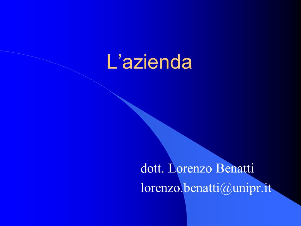 Lazienda dott. Lorenzo Benatti lorenzo.benatti@unipr.it