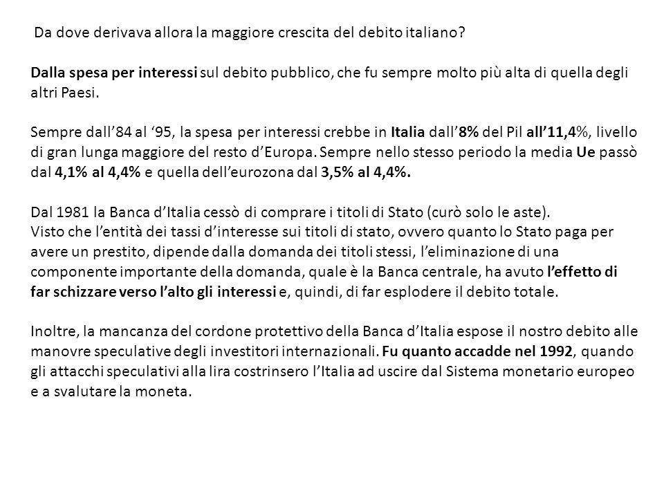 Ci si potrebbe chiedere a questo punto quale fu la ragione del divorzio tra Banca dItalia e Tesoro.