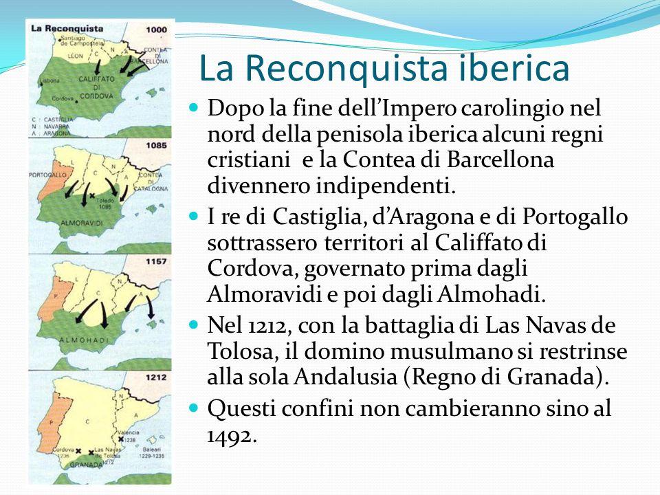 La Reconquista iberica Dopo la fine dellImpero carolingio nel nord della penisola iberica alcuni regni cristiani e la Contea di Barcellona divennero indipendenti.