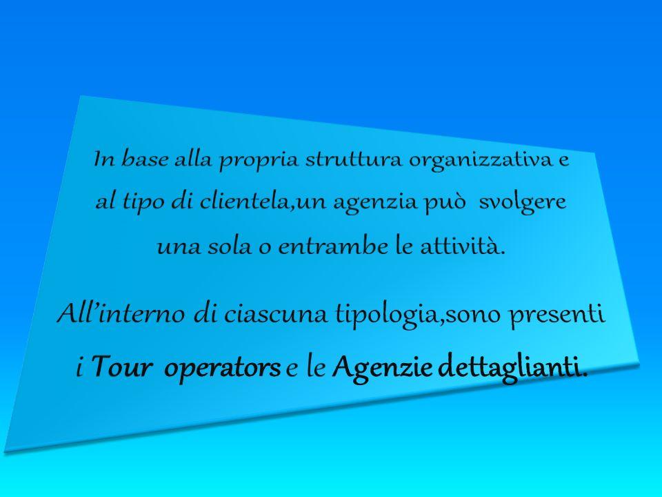 CLASSIFICAZIONE DI AGENZIE DI VIAGGI Agenzie incoming che organizzano viaggi e soggiorni in Italia per turisti provenienti dallestero Agenzie outgoing