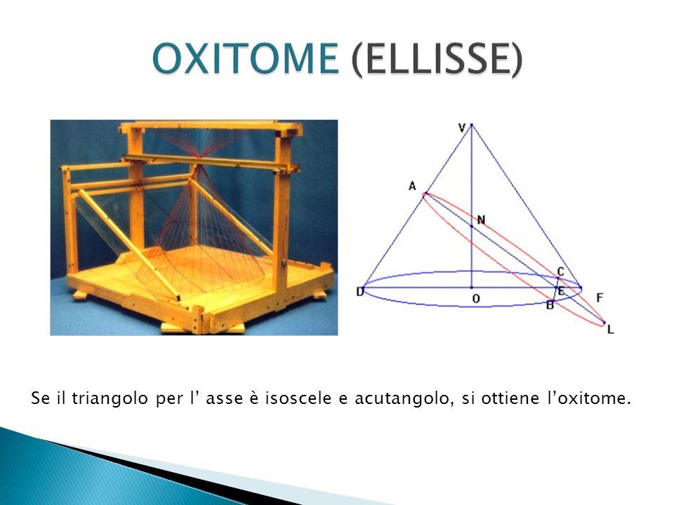 Se il triangolo per l asse è isoscele e acutangolo, si ottiene loxitome.