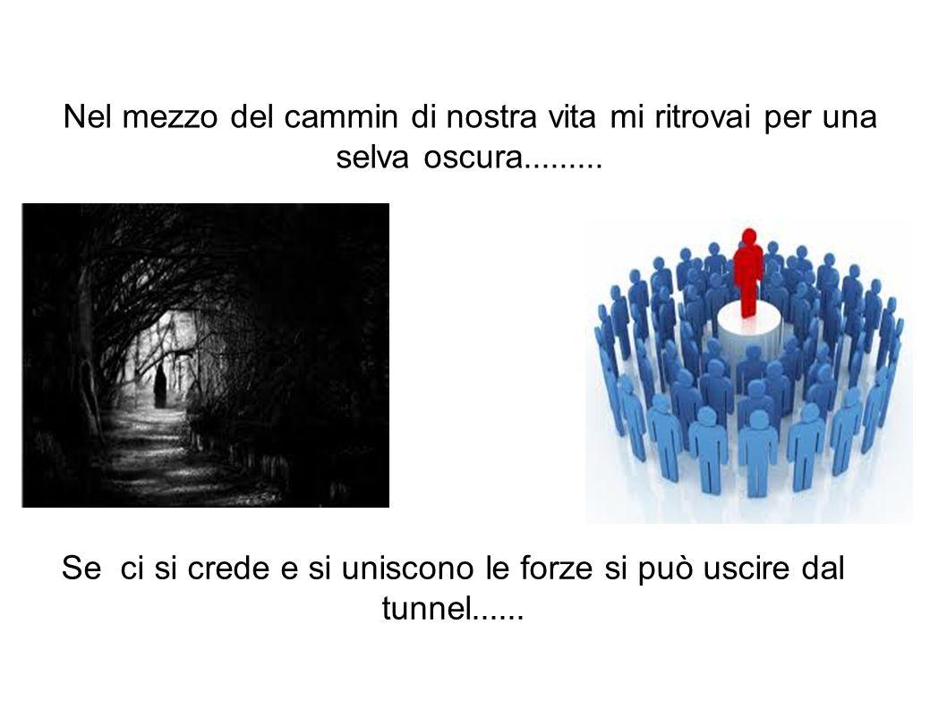 Nel mezzo del cammin di nostra vita mi ritrovai per una selva oscura......... Se ci si crede e si uniscono le forze si può uscire dal tunnel......