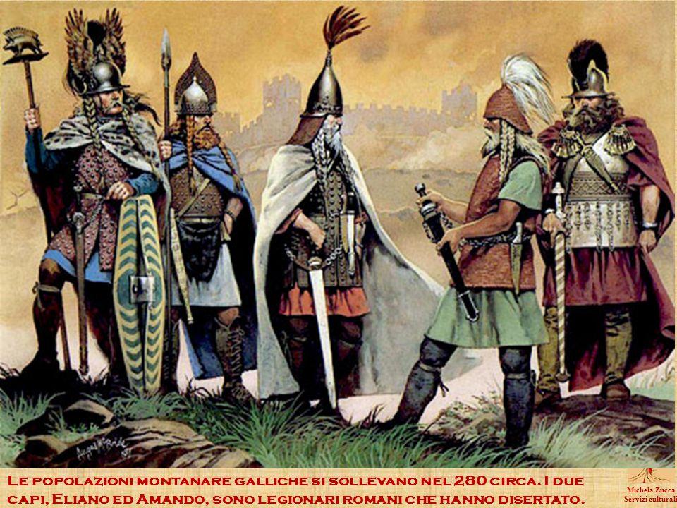 Le popolazioni montanare galliche si sollevano nel 280 circa.