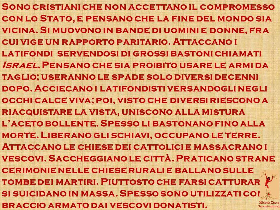 Sono cristiani che non accettano il compromesso con lo Stato, e pensano che la fine del mondo sia vicina.