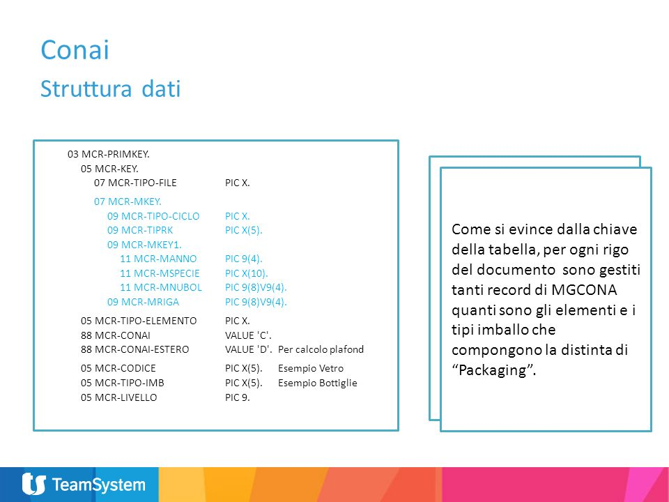 Struttura dati Le informazioni inerenti il contributo Conai sono calcolate e memorizzate Real Time in fase di emissione dei documenti di vendita e mem