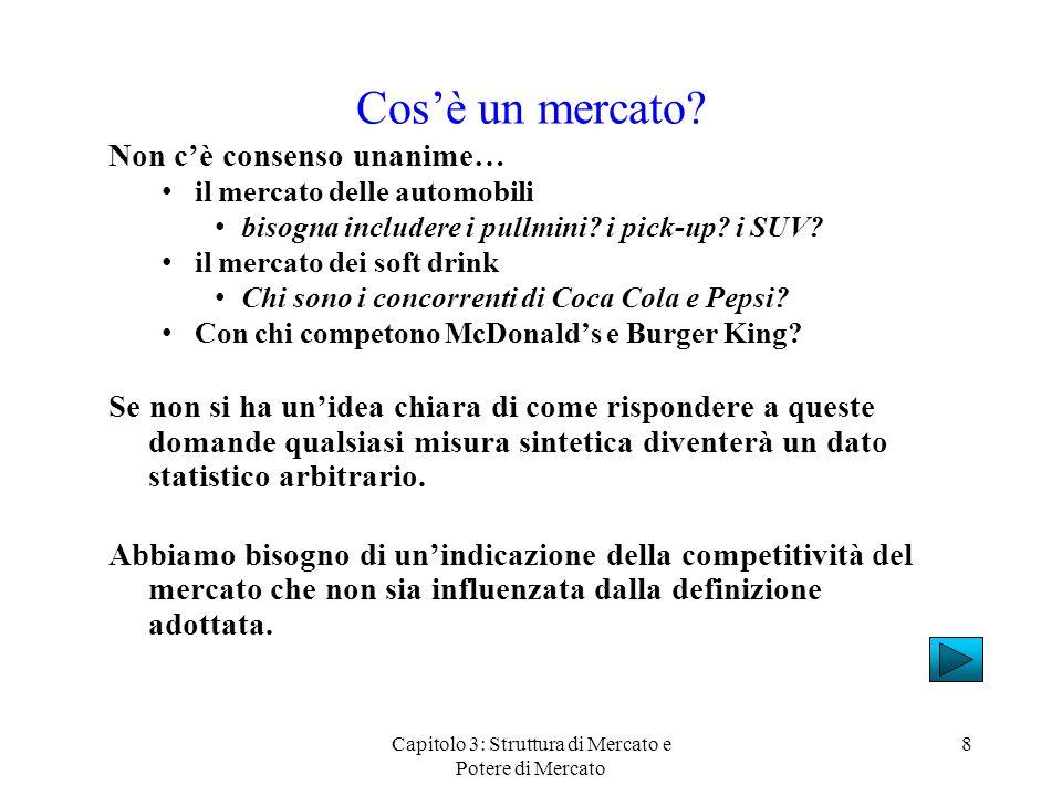 Capitolo 3: Struttura di Mercato e Potere di Mercato 8 Cosè un mercato.
