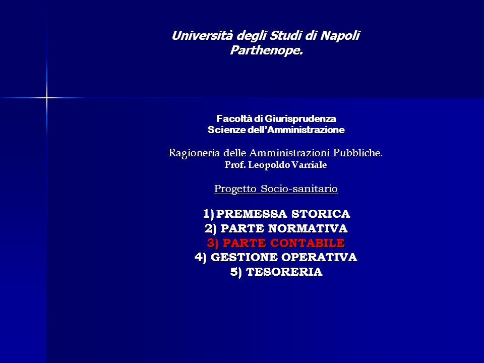 Facoltà di Giurisprudenza Scienze dellAmministrazione Ragioneria delle Amministrazioni Pubbliche.