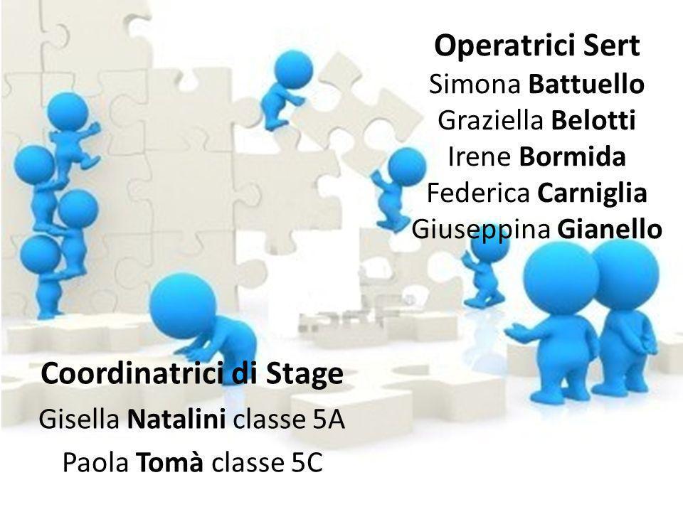 Operatrici Sert Simona Battuello Graziella Belotti Irene Bormida Federica Carniglia Giuseppina Gianello Coordinatrici di Stage Gisella Natalini classe
