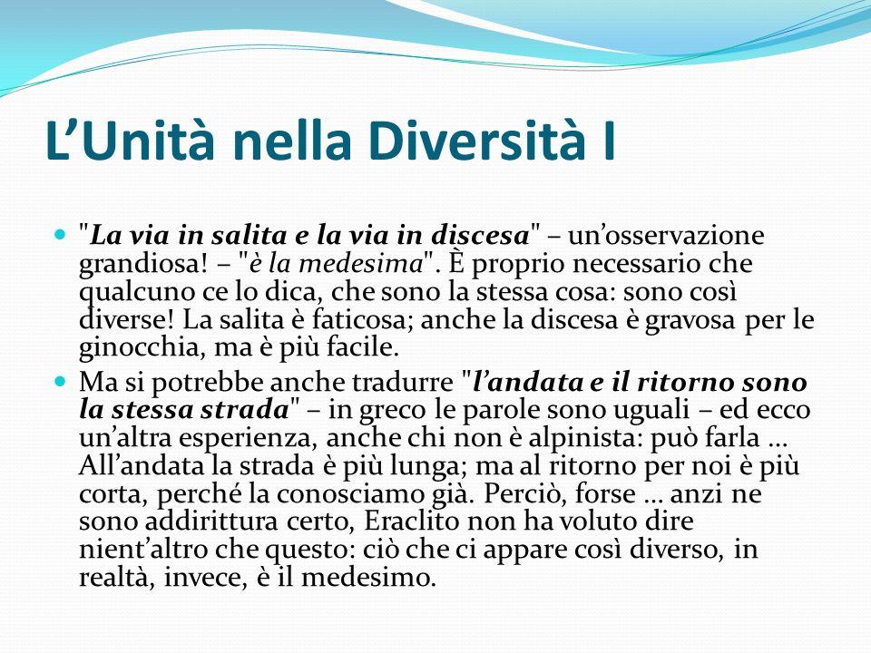 LUnità nella Diversità I