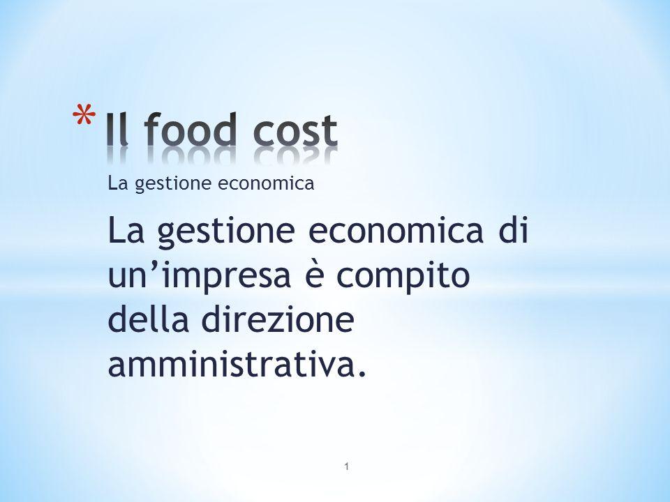 La gestione economica Tuttavia il cuoco deve sapere come vengono calcolati e determinati i prezzi di vendita dei menu e delle singole portate; il barman deve saper calcolare il costo e il prezzo di vendita di un cocktail 2