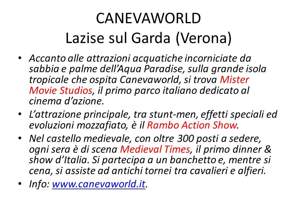 CANEVAWORLD Lazise sul Garda (Verona) Accanto alle attrazioni acquatiche incorniciate da sabbia e palme dellAqua Paradise, sulla grande isola tropical