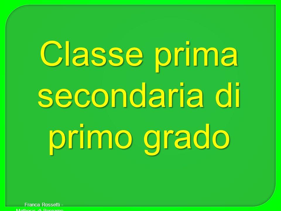 Classe prima secondaria di primo grado Franca Rossetti - Mathesis di Bergamo