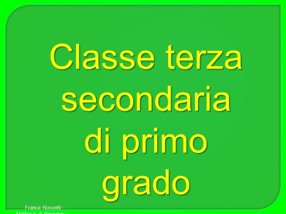 Classe terza secondaria di primo grado Franca Rossetti - Mathesis di Bergamo