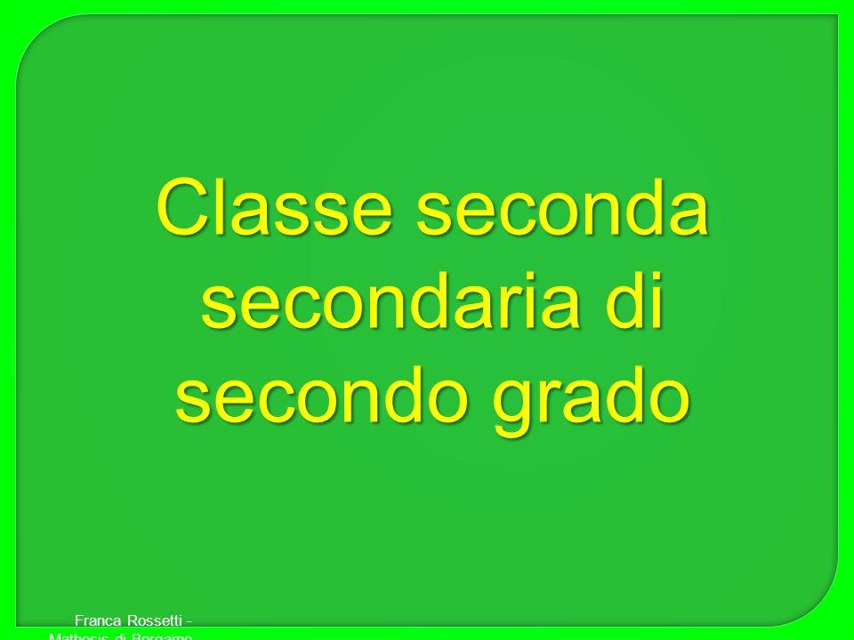 Classe seconda secondaria di secondo grado Franca Rossetti - Mathesis di Bergamo