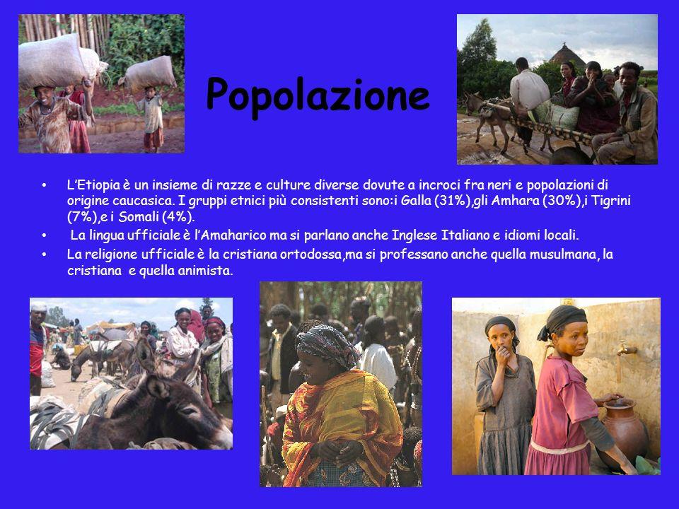 Popolazione LEtiopia è un insieme di razze e culture diverse dovute a incroci fra neri e popolazioni di origine caucasica. I gruppi etnici più consist