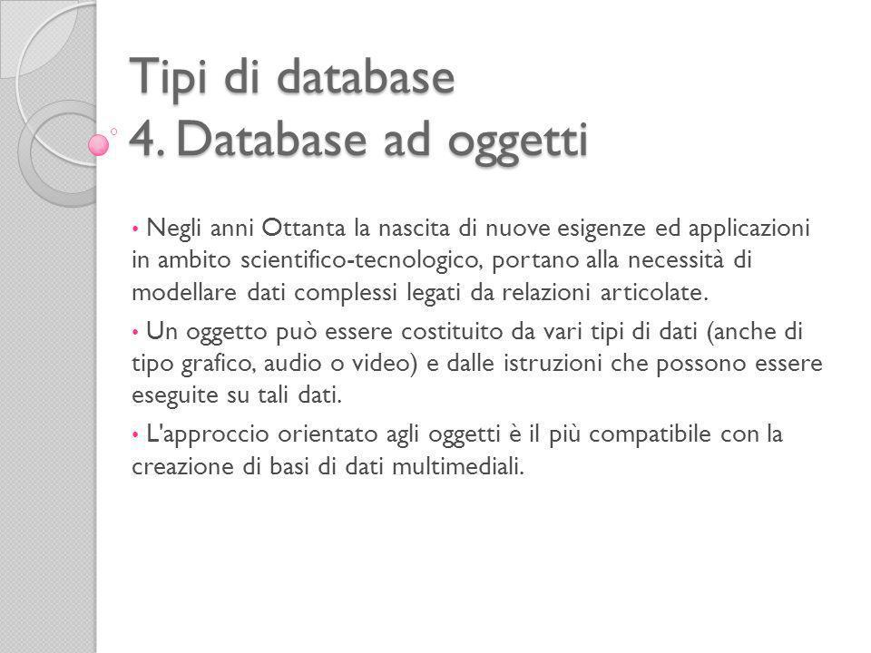 Tipi di database 4.