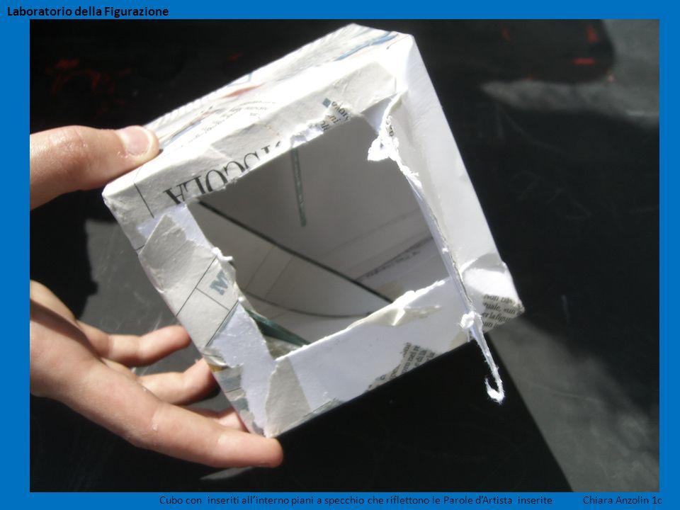 Cubo con inseriti allinterno piani a specchio che riflettono le Parole dArtista inserite Chiara Anzolin 1c Laboratorio della Figurazione