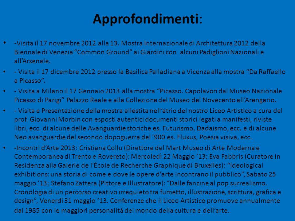 - Visita il 17 novembre 2012 alla 13. Mostra Internazionale di Architettura 2012 della Biennale di Venezia Common Ground ai Giardini con alcuni Padigl