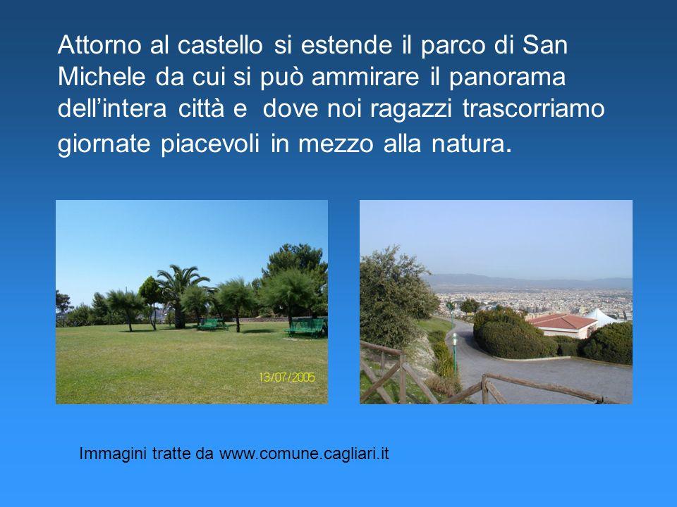 Attorno al castello si estende il parco di San Michele da cui si può ammirare il panorama dellintera città e dove noi ragazzi trascorriamo giornate pi