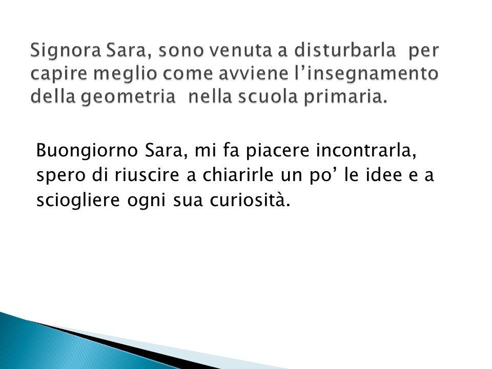 Buongiorno Sara, mi fa piacere incontrarla, spero di riuscire a chiarirle un po le idee e a sciogliere ogni sua curiosità.