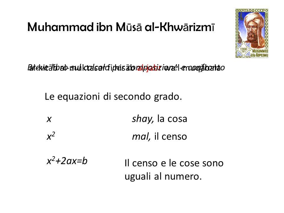 Le equazioni di secondo grado.