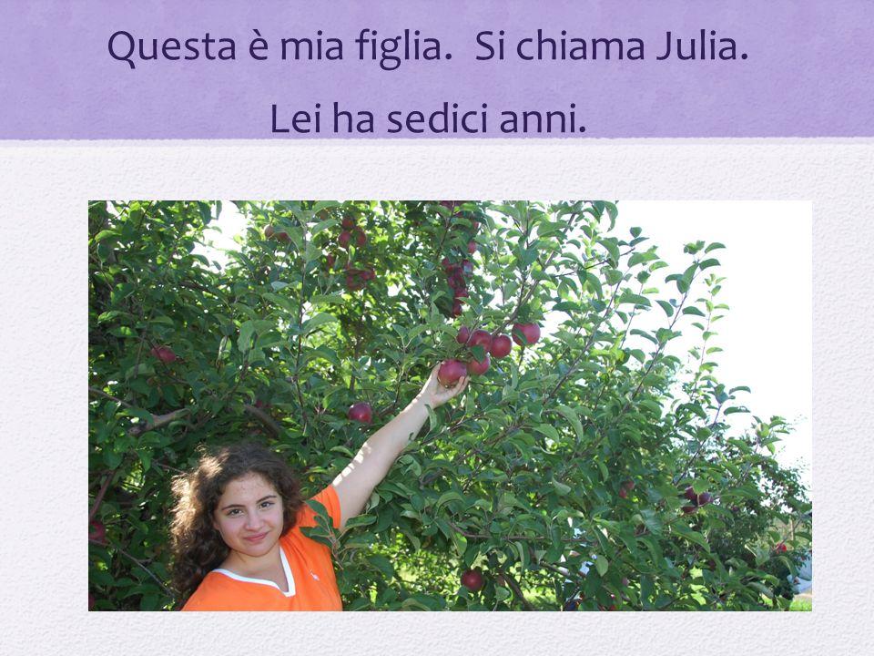 Questa è mia figlia. Si chiama Julia. Lei ha sedici anni.