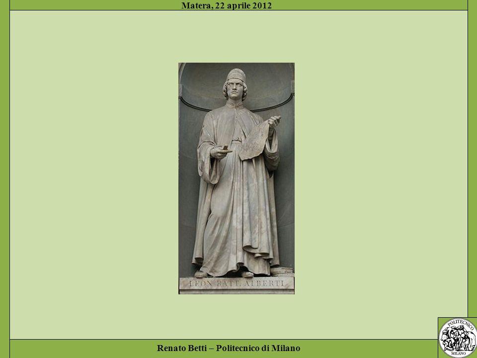 Renato Betti – Politecnico di Milano Matera, 22 aprile 2012