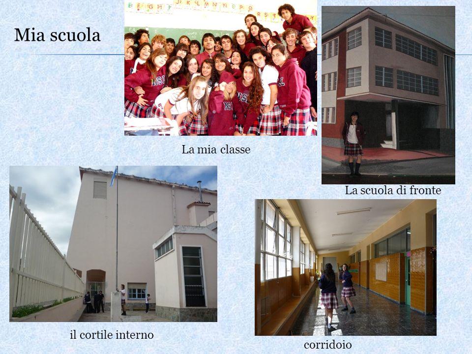 Mia scuola La mia classe La scuola di fronte il cortile interno corridoio