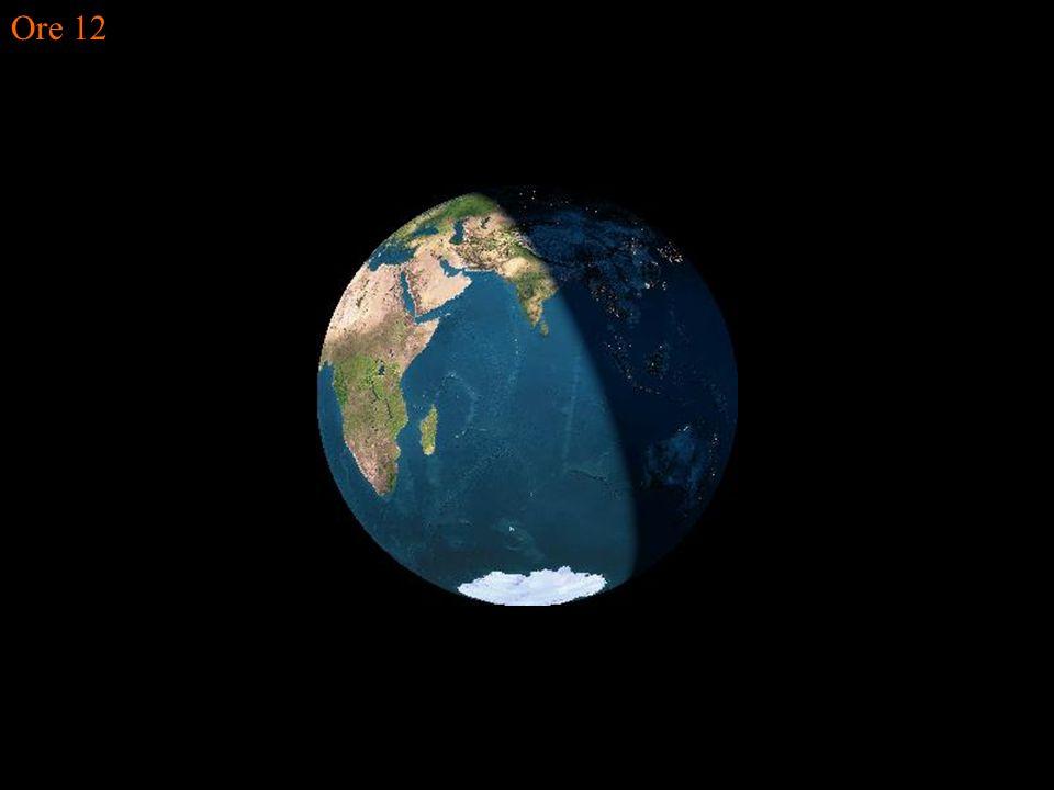 La terra vista dalla luna nel corso della giornata del solstizio dinverno