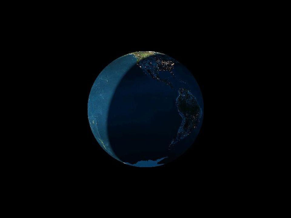 La terra vista dalla luna nel corso della giornata di solstizio destate