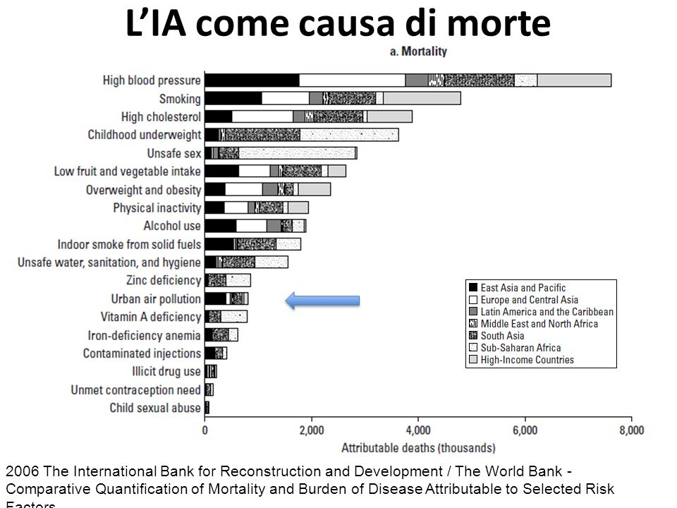2006 The International Bank for Reconstruction and Development / The World Bank - Comparative Quantification of Mortality and Burden of Disease Attributable to Selected Risk Factors LIA come causa di morte