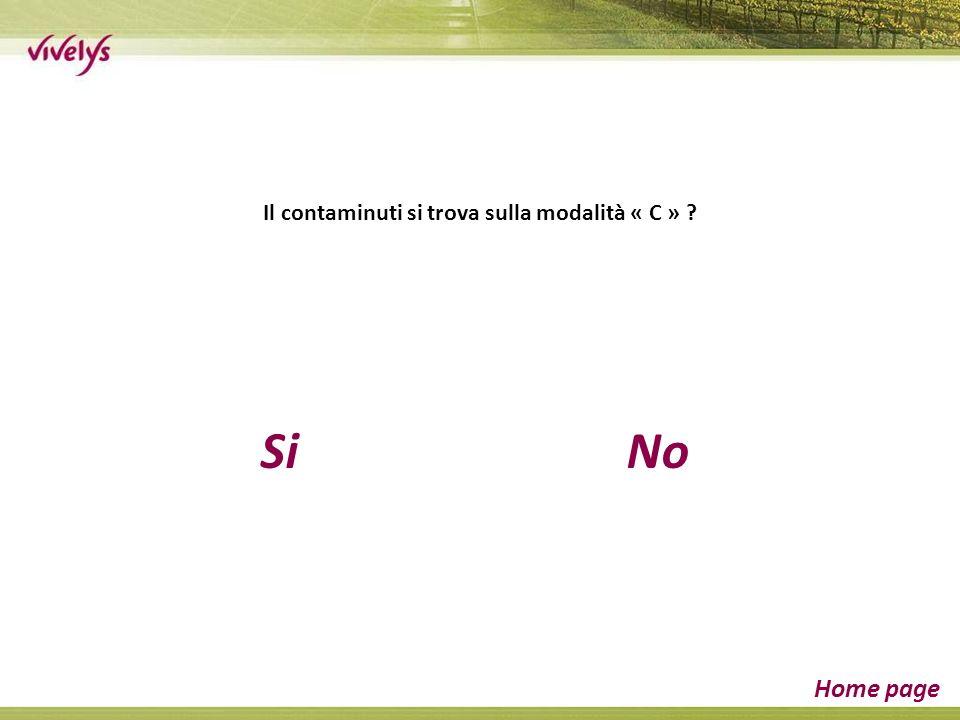 SiNo Home page Il contaminuti si trova sulla modalità « C »